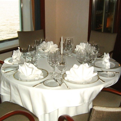 Fine Dining at Sea