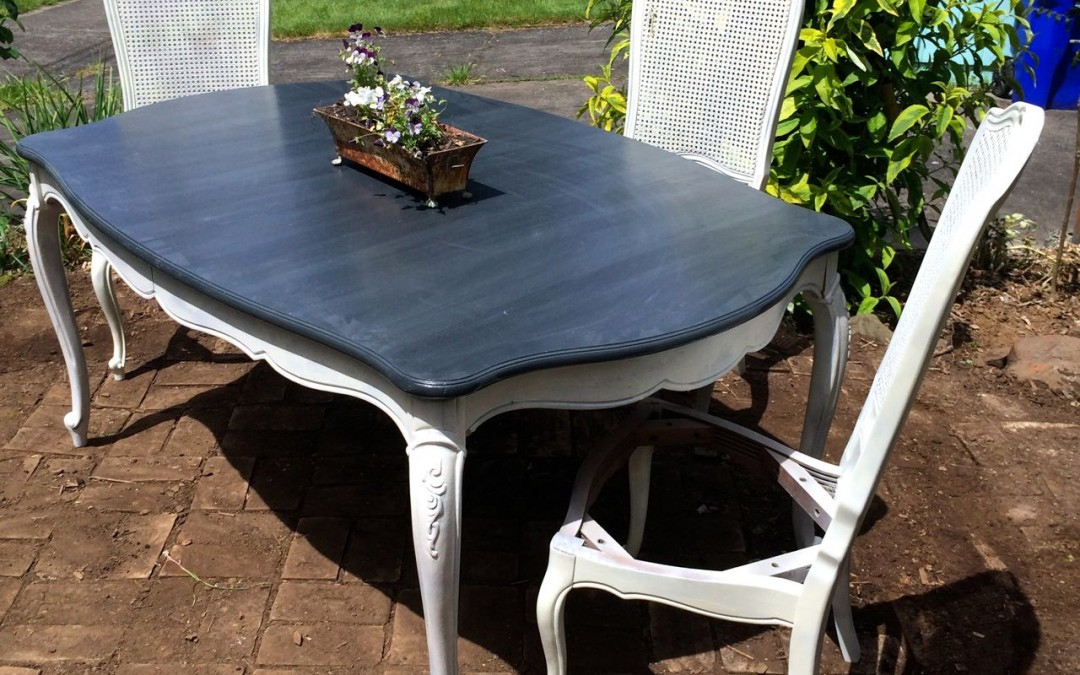 Turning a Dining Table Set into Outdoor Furniture