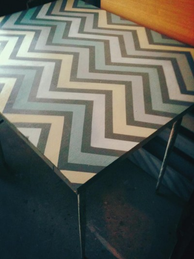 another diy chevron kitchen table