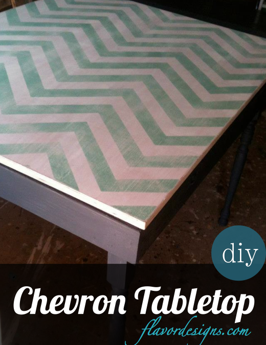 DIY Chevron Pattern Tabletops