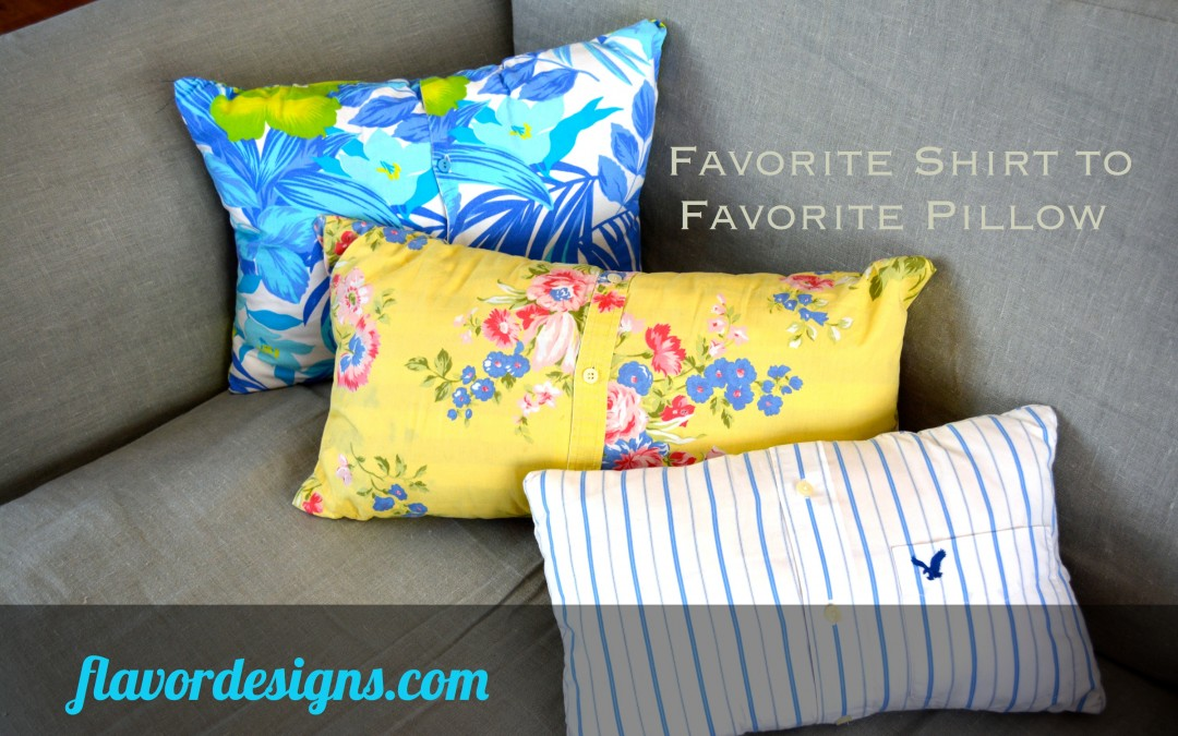 Upcycling: From Favorite Shirt to Favorite Pillow